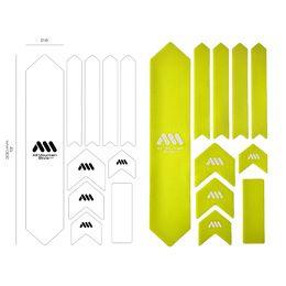 Kit de protections de cadre xl couleur (10 pièces) - jaune