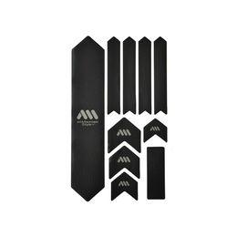 Kit de protections de cadre xl 10 pièces - noir