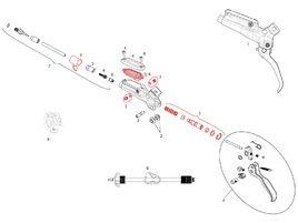 Sram Kit piston pour levier Guide R / RE, Code R et DB5