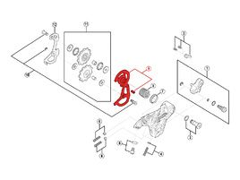 Shimano Chape externe pour dérailleur Saint M810 - Chape courte