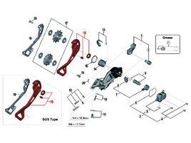 Shimano Chape externe pour dérailleur XTR M9000 - Chape longue