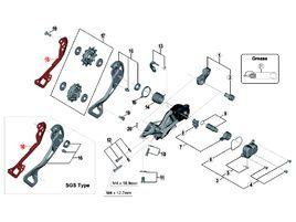 Shimano Chape interne pour dérailleur XTR M9000 - Chape longue