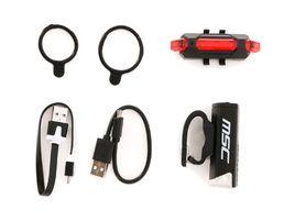 MSC Kit lampes de sécurité à LED avant 120 lumens + arrière USB