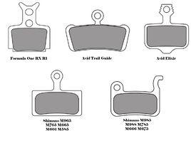 Plaquettes de freins VTT pour Level Organique et Alu