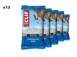 Clif Bar Boite de 12 barres énergétiques goût pépites de chocolat