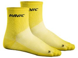 Mavic Chaussettes Cosmic Medium Jaune 2018