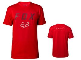 Fox Tee Shirt Tech Contended Manches Courtes Rouge 2018