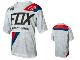 Fox Maillot Demo Drafter manches courtes – Blanc – L 2018