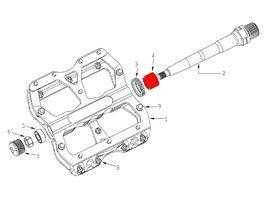 Reverse Components Kit bagues DU pour pédales Escape