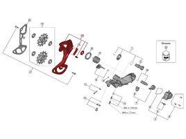 Shimano Chape Externe pour Dérailleur XTR M9100