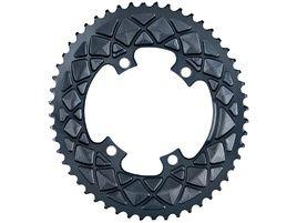 Absolute Black Plateau Ovale Premium - 4 trous 110 mm (Shimano asymétrique) - Gris 2020