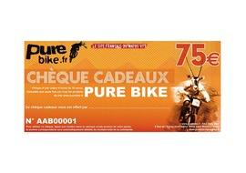 Purebike Chèque cadeau 75 €