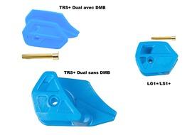 E Thirteen Plaques d'usure inférieures pour guide chaine Bleu