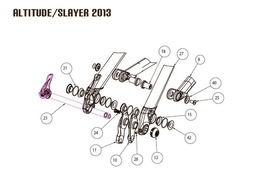 Rocky Mountain Joint d'axe de suspension N°21 pour Altitude et Slayer 2013