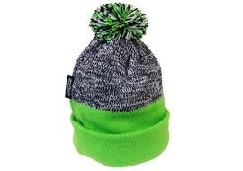 Hope Bonnet Green Bobble Vert / Gris