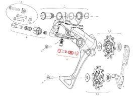 Sram Bouton Cage Lock pour dérailleur arrière X7 / X9 / X0 Type 2