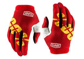 100% Gants iTrack Rouge - Taille S 2017