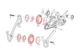 Sram Galets 11 dents pour X9 9 vitesses (2007-2009)