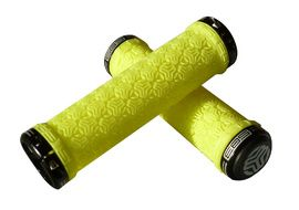SB3 Grips Lock On Logo Jaune Fluo