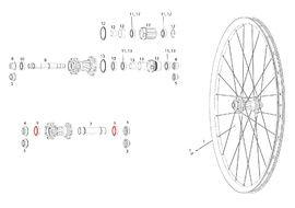 Sram Roulements pour roue avant Rise 60, Roam 30 / 40, Rail 40