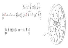 Sram Roulements pour roue arrière Rise 60, Roam 30 / 40, Rail 40