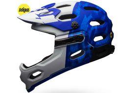 Bell Casque Super 3R MIPS Bleu Mat / Blanc - Taille S