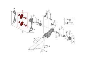 Shimano Galets de dérailleur 11 vitesses pour SLX M7000