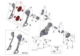 Shimano Galets de dérailleur 11 vitesses pour XT M8000