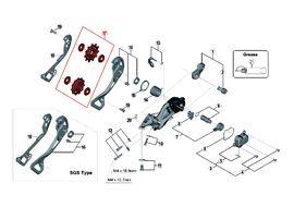 Shimano Galets de dérailleur 11 vitesses pour XTR M9000