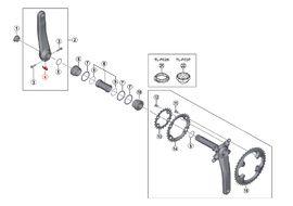 Shimano Plaquette de sécurité pour manivelle Hollowtech II