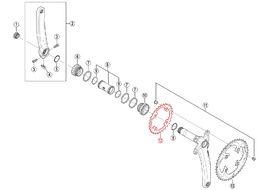 Shimano Plateau XTR M985 2X10 vitesses - 28 dents