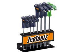 Icetoolz Set de 7 clé Allen en T (2 à 8 mm) et Torx T25. 7M85