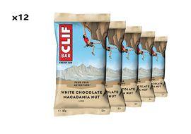 Clif Bar Boite de 12 barres énergétiques goût chocolat blanc