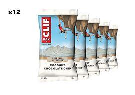 Clif Bar Boite de 12 barres énergétiques goût coco et chocolat