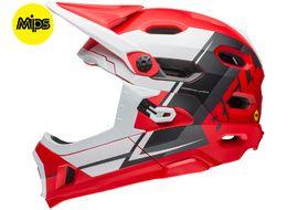 Bell Casque Super DH Rouge / Blanc / Noir – Taille L