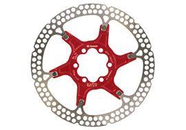 Formula Disque de frein flottant Rouge - 6 trous