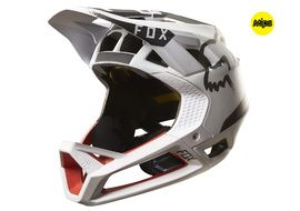 Fox Casque Proframe Moth Blanc / Rouge 2017