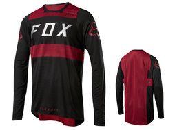Fox Maillot Flexair manches longues - Noir et Rouge 2018