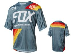 Fox Maillot Demo Drafter manches courtes – Bleu