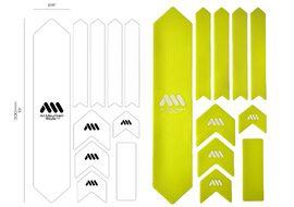 All Mountain Style Kit de protections de cadre XL Couleur (10 pièces) - Jaune 2017