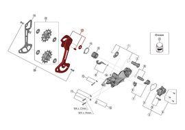 Shimano Chape Externe pour Dérailleur XTR M9120 - Chape Longue