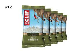 Clif Bar Boite de 12 barres énergétiques Muesli, Cacahuète, Raisins secs