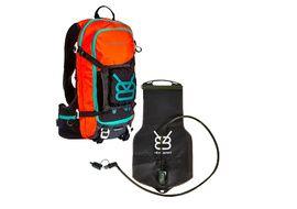 V8 Equipment Sac hydratation FRD 11.1 avec poche Elite 1,5/3L - Noir / Orange