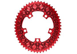Absolute Black Plateau Ovale Premium - 5 trous 110 mm (non Sram) - Rouge 2020