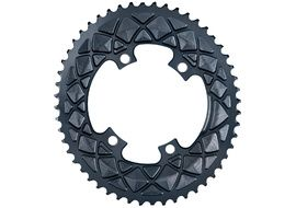 Absolute Black Plateau Ovale Premium - 4 trous 110 mm (Shimano asymétrique) - Gris 2020