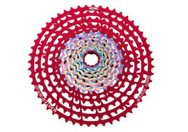 KCNC Cassette Master MTB 12 vitesses Rouge / Rainbow - 9-52 dents 2020