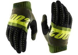 100% Gants Ridefit Army Green/Fluo Lime/Fatigue 2020