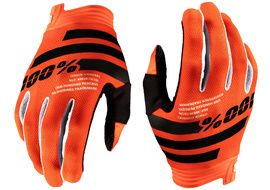 100% Gants iTrack Orange/Black 2020
