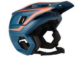 Fox Casque Dropframe Pro Bleu et Rouge 2021