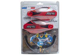 AVS Protège mains avec pattes aluminium - Noir / Rouge